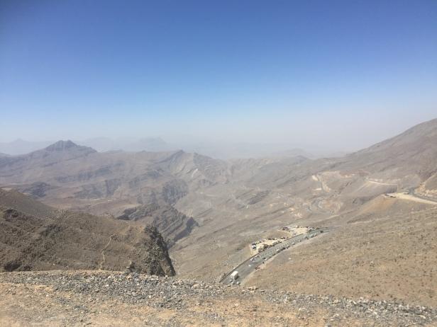 Near the top of Jebel Jais